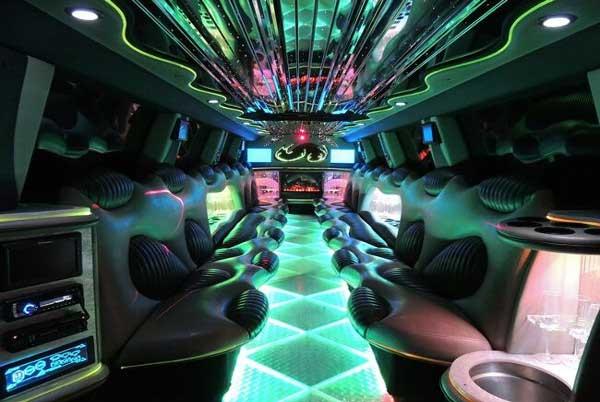 Hummer limo interior Albuquerque